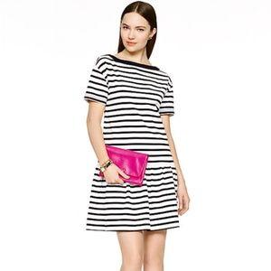 Kate Spade Striped Drop Waist Knit Dress